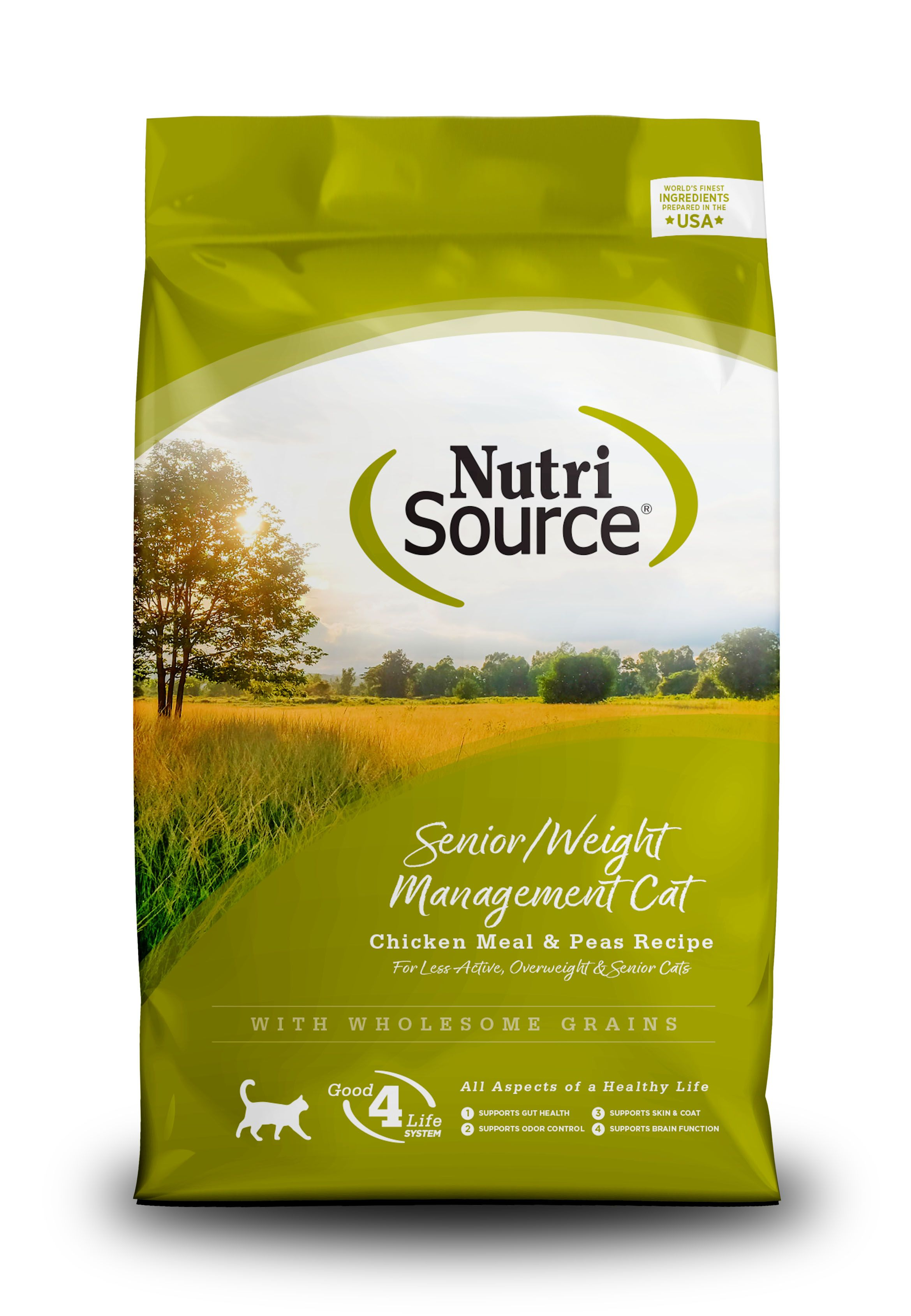 NutriSource Senior Weight Management Chicken and Rice Dry Cat Food Image