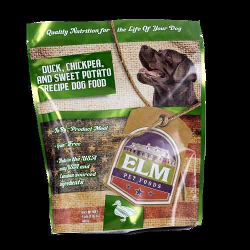 Elm Duck, Chickpea & Sweet Potato Dry Dog Food, 3-lb