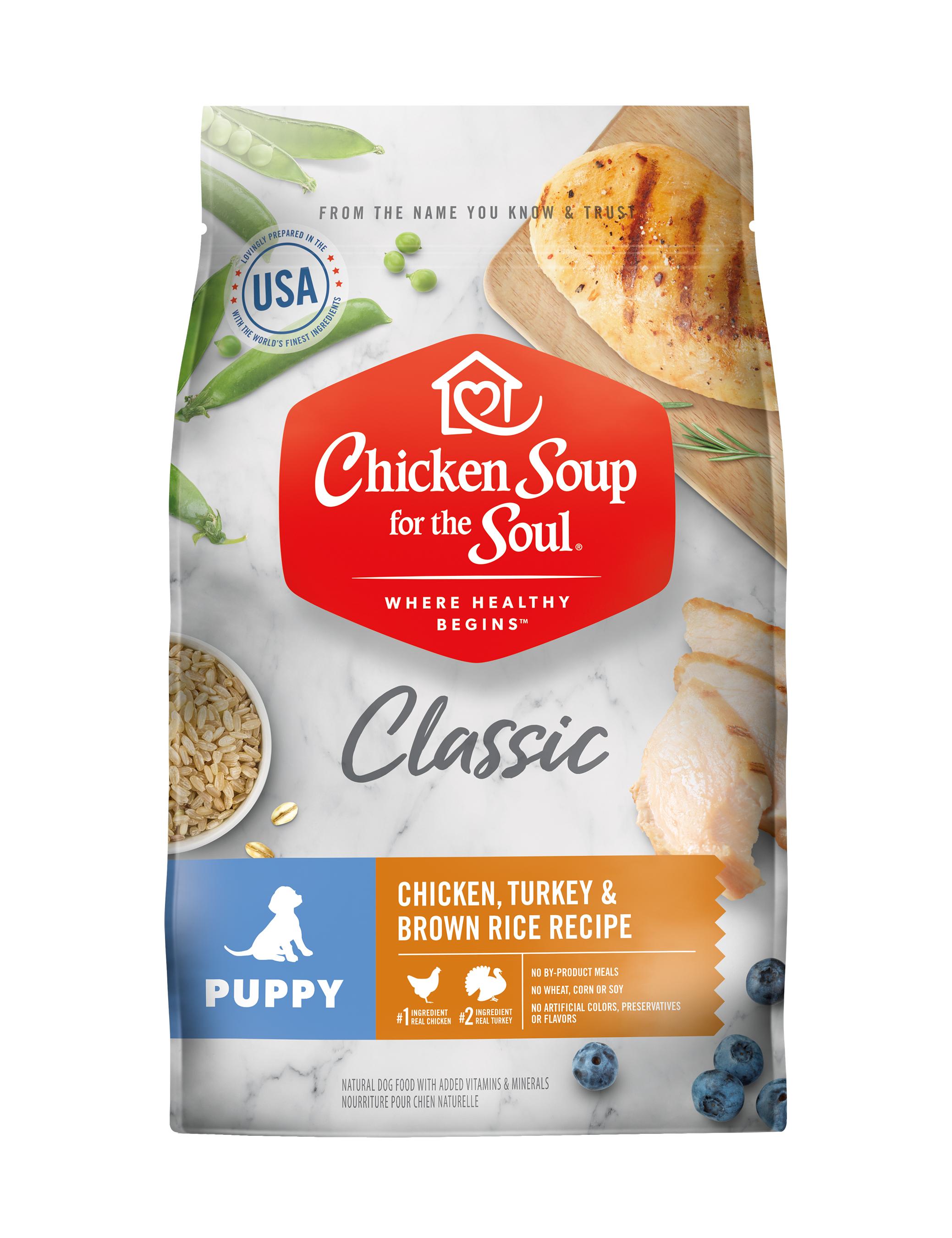 Chicken Soup Large Breed Puppy Chicken, Turkey & Brown Rice, 13.5-lb