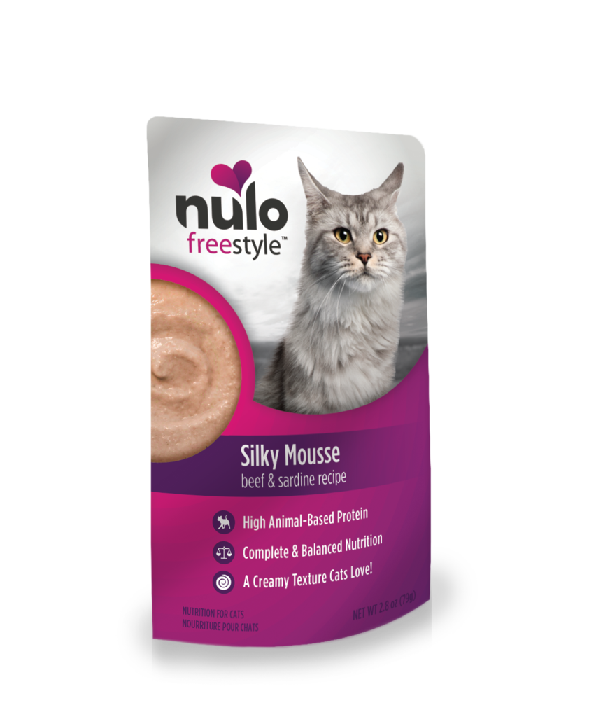Nulo FreeStyle Cat Silky Mousse, Beef & Sardine, 2.8-oz pouch