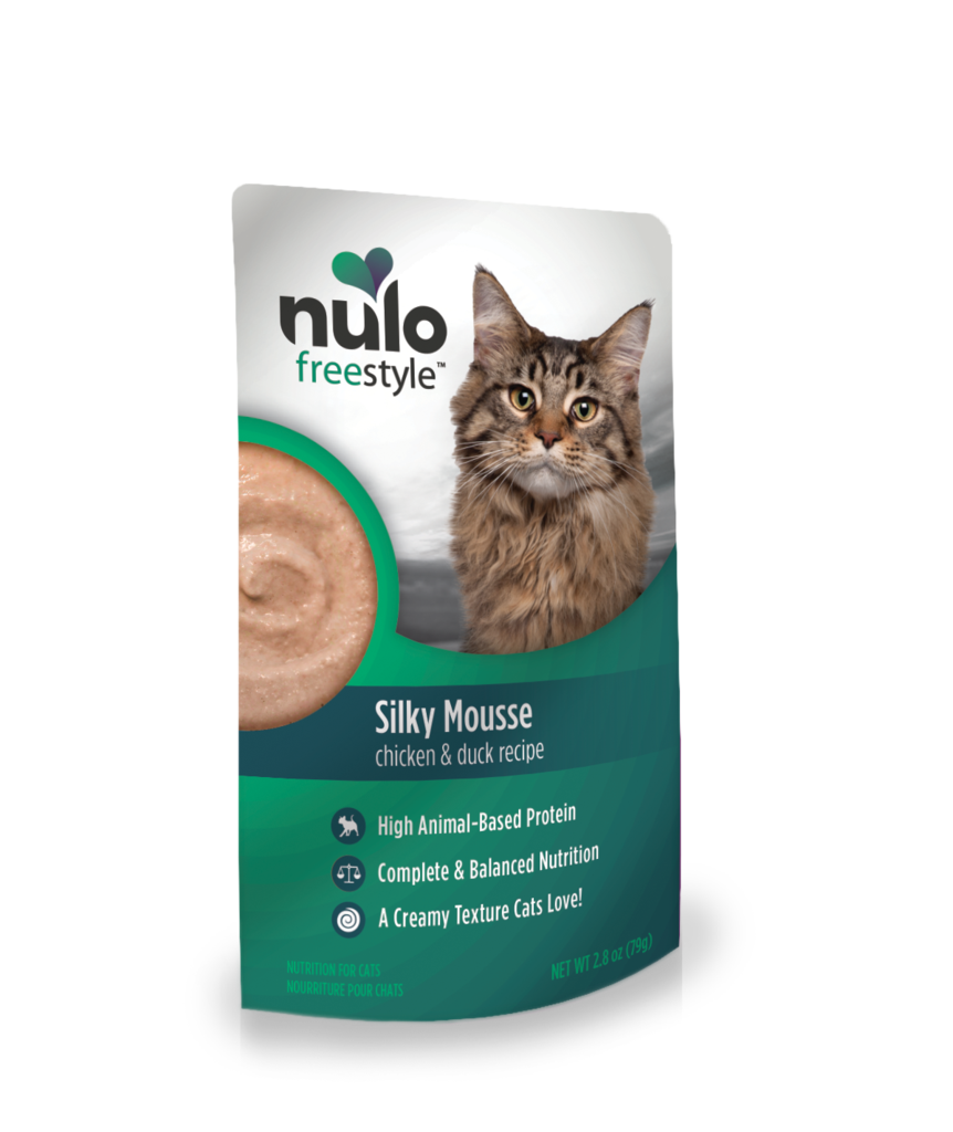 NuloFreeStyle Cat Silky Mousse, Chicken & Duck, 2.8-oz pouch
