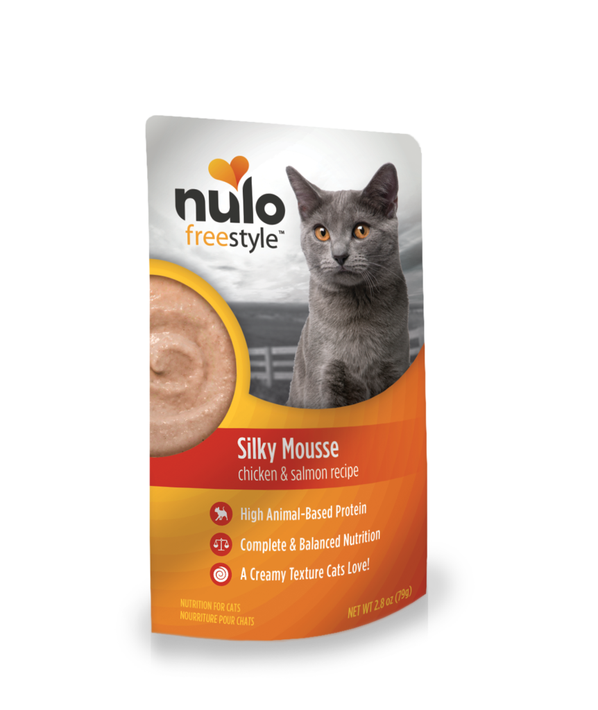 Nulo FreeStyle Cat Silky Mousse, Chicken & Salmon, 2.8-oz pouch