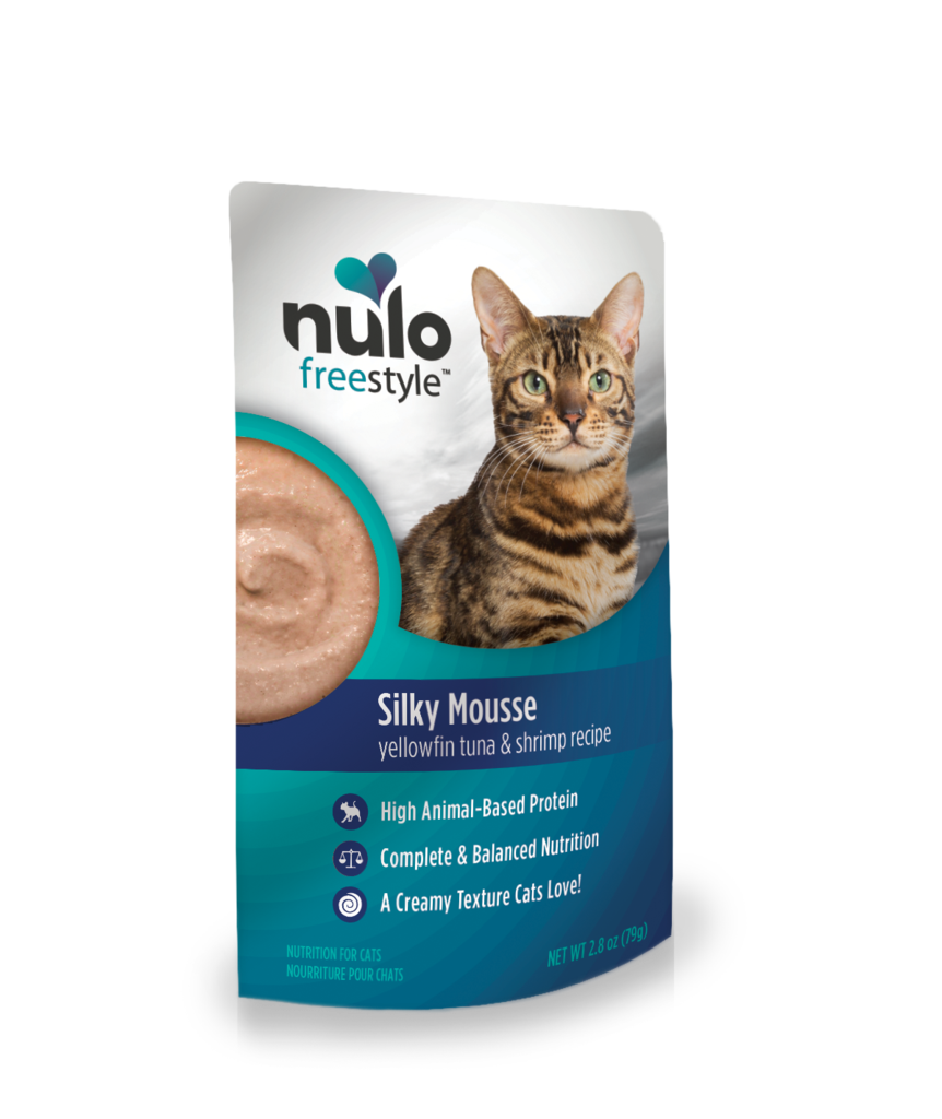 Nulo FreeStyle Cat Silky Mousse, Yellowfin Tuna & Shrimp, 2.8-pouch