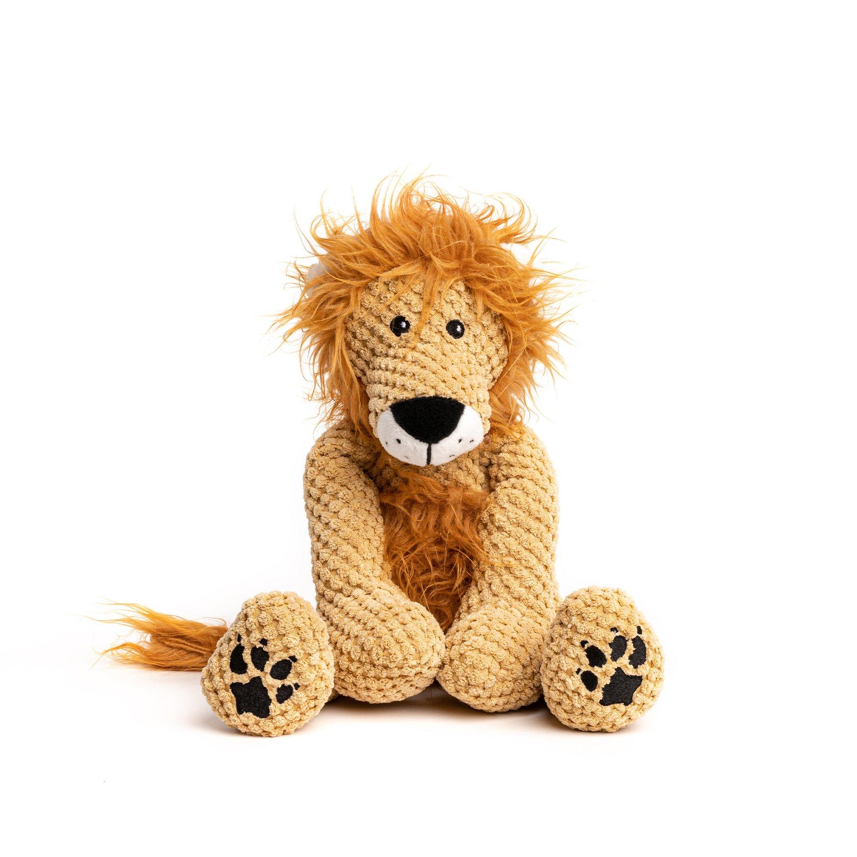 fabdog Floppy Plush Dog Toy, Lion, Small