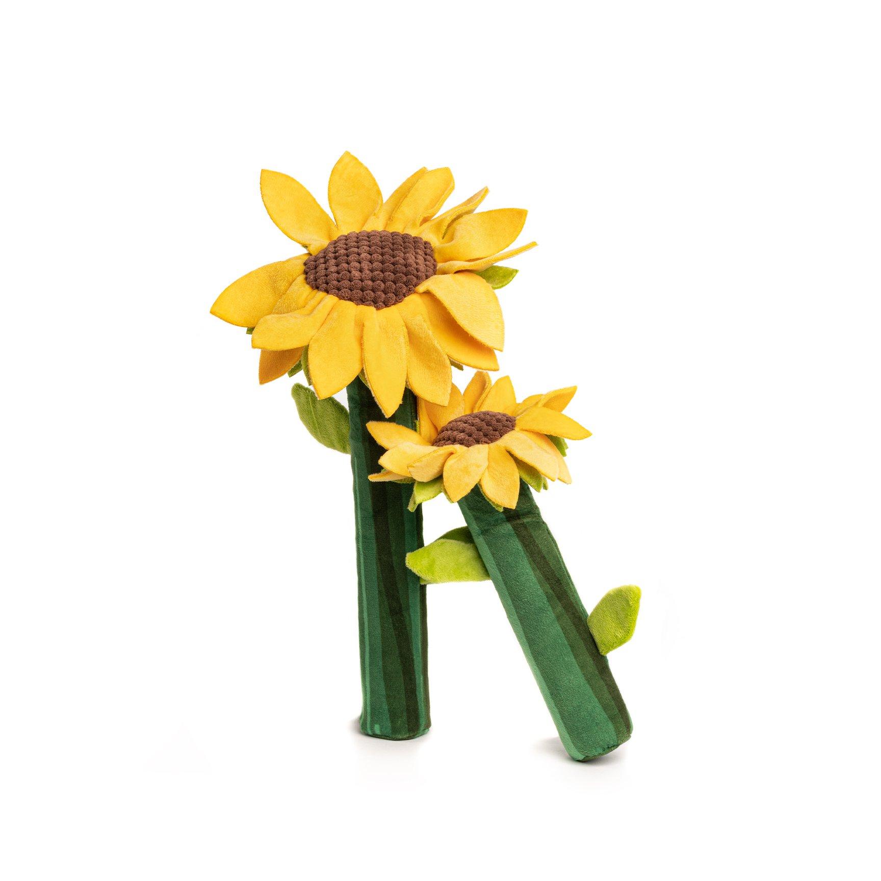 fabdog Bendie Dog Toy, Sunflower, Small
