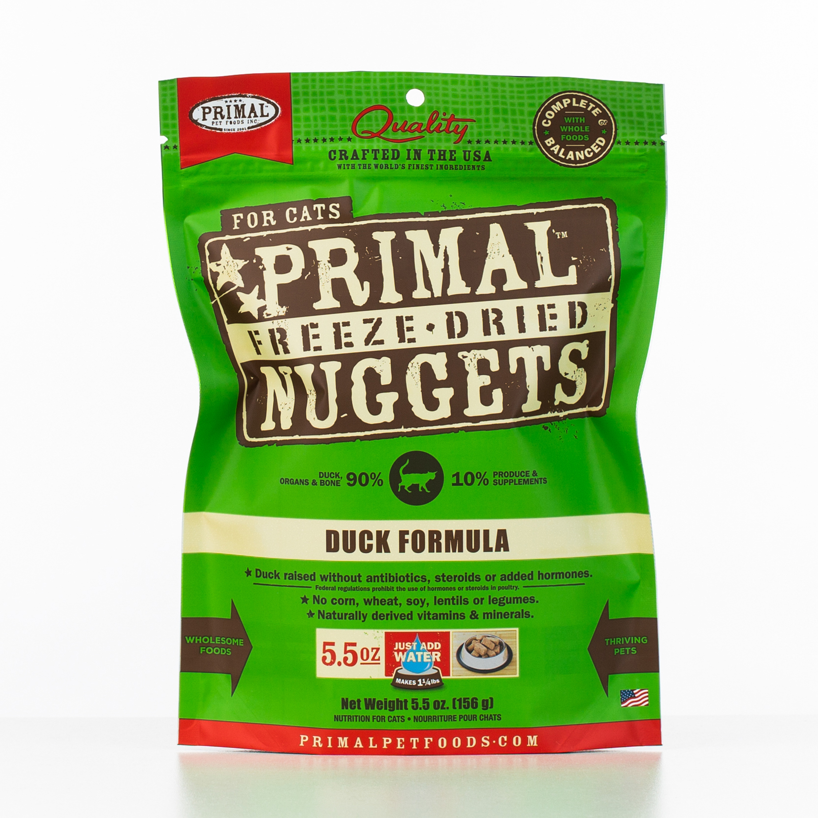 Primal Raw Freeze-Dried Nuggets Duck Formula Cat Food Image