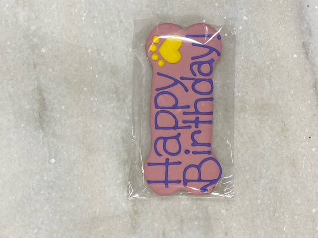 Fetch! Birthday Cookie Peanut Butter Dog Treats, Pink