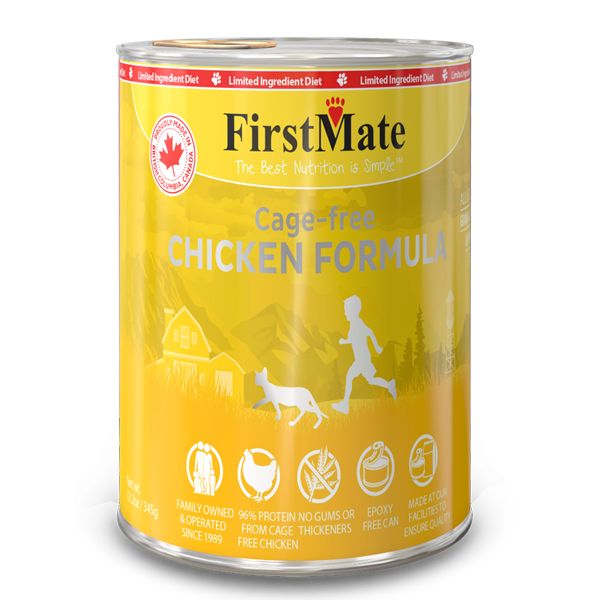 FirstMate Chicken Limited Ingredient Grain-Free Canned Cat Food, 12.2-oz