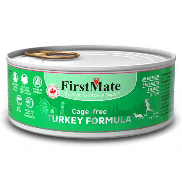 FirstMate Turkey Limited Ingredient Grain-Free Canned Cat Food, 5.5-oz