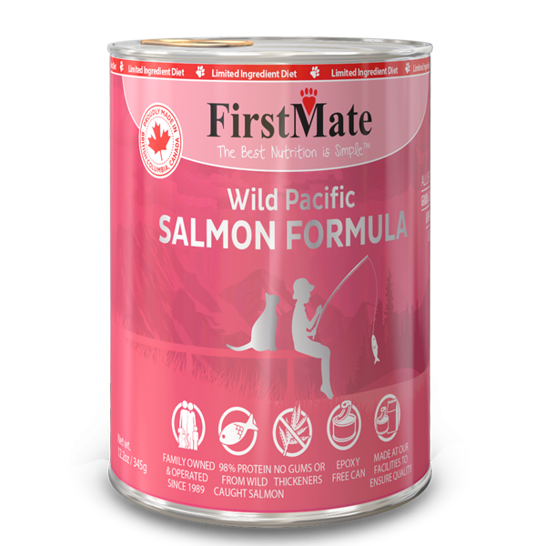 FirstMate Salmon Limited Ingredient Grain-Free Canned Cat Food, 12.2-oz