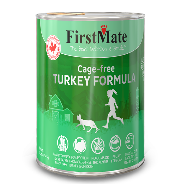 FirstMate Turkey Limited Ingredient Grain-Free Canned Cat Food, 12.2-oz, case of 12