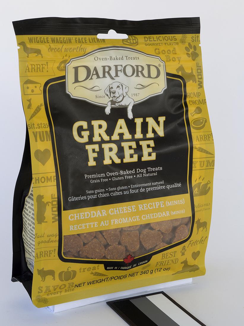 Darford Baked Cheddar Cheese Recipe Grain-Free Mini Dog Treats, 12-oz bag