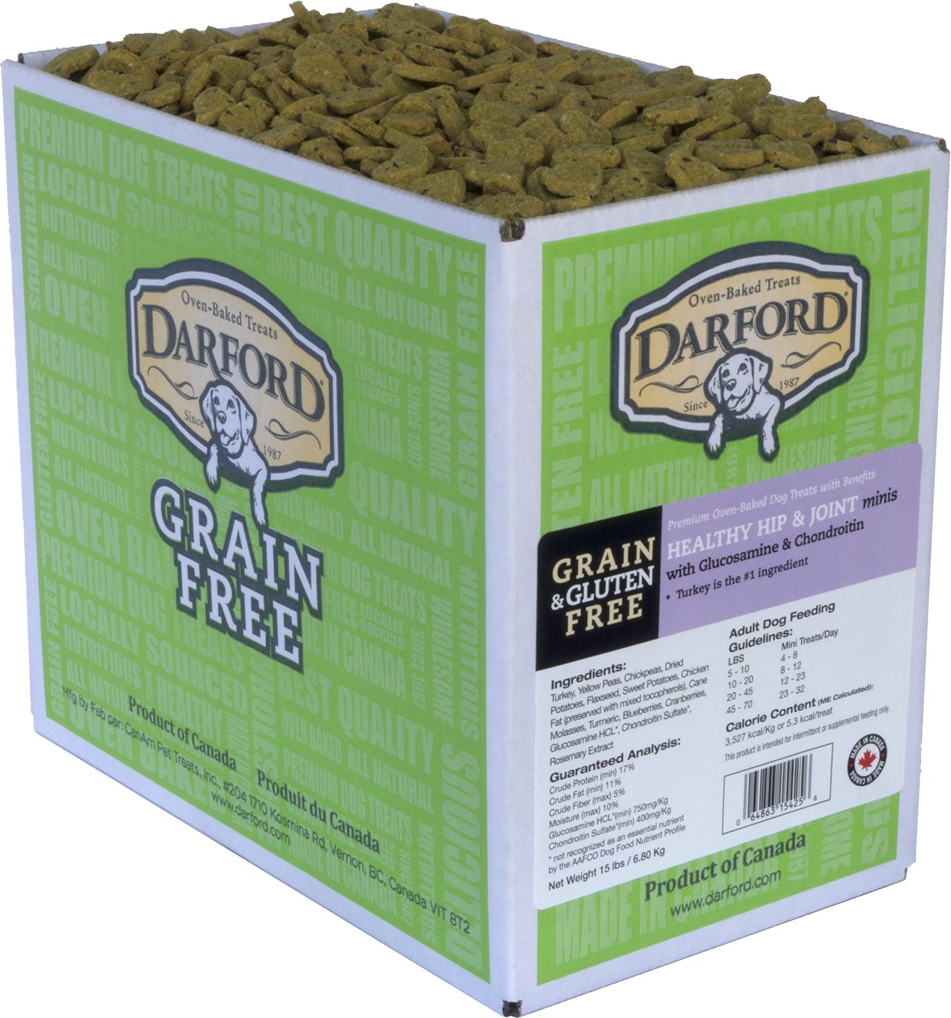 Darford Healthy Hip & Joint Grain-Free Mini Dog Treats, 15-lb box