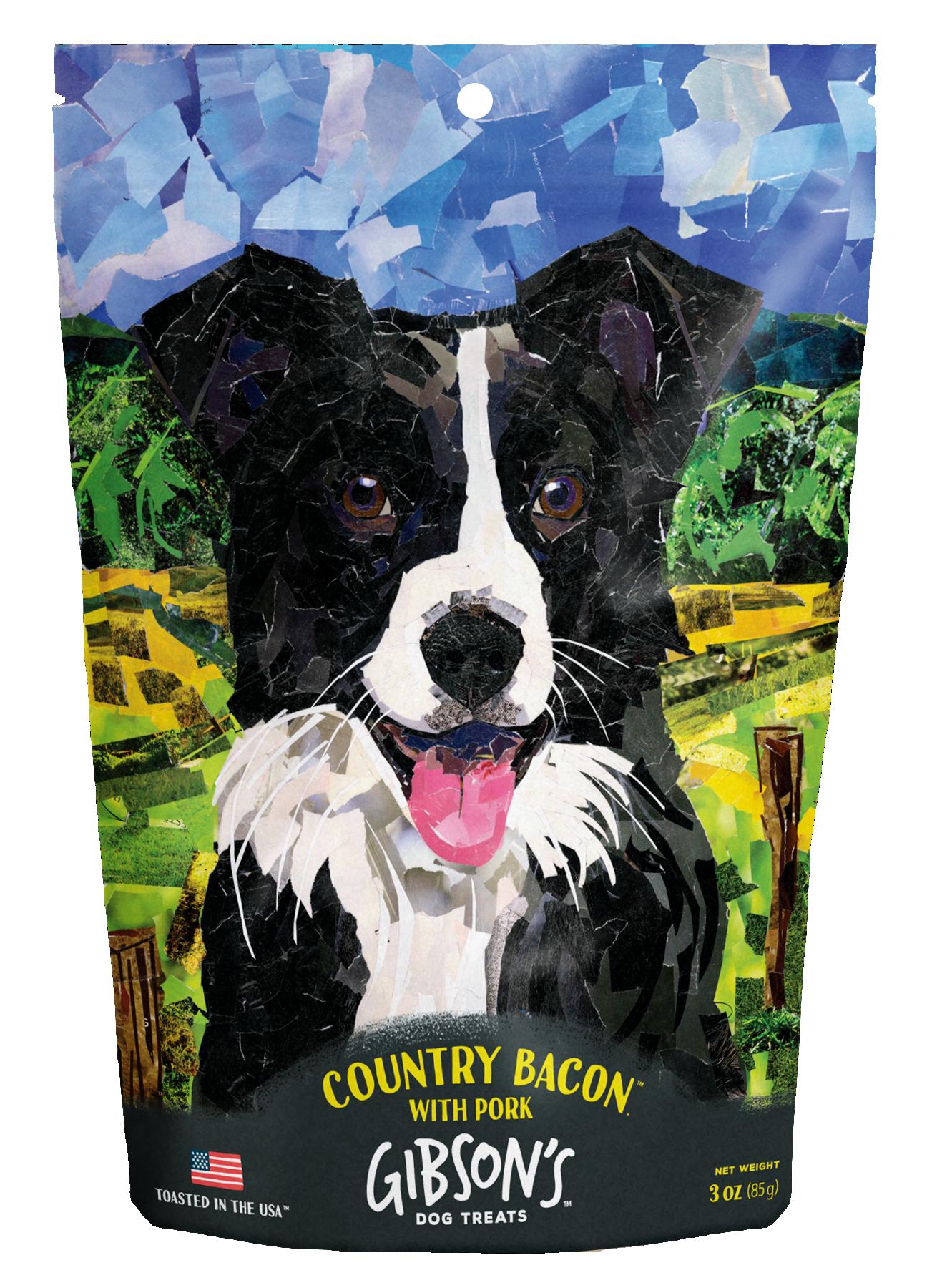 Wild Meadow Farms Gibson's Country Bacon with Pork Dog Treats, 3-oz