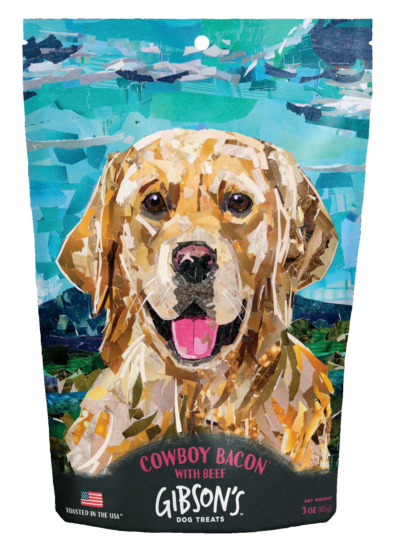 Wild Meadow Farms Gibson's Cowboy Bacon with Beef Dog Treats, 3-oz