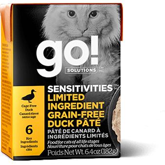 Go! Solutions Sensitivities Limited Ingredient Grain-Free Duck Pate Wet Cat Food Image