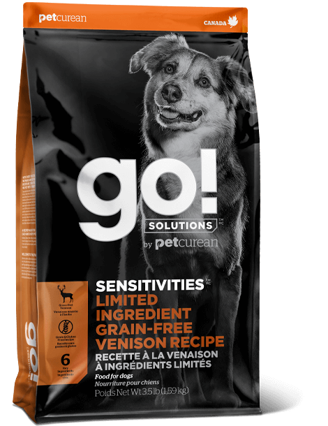 Go! Solutions Sensitivities Limited Ingredient Venison Grain-Free Dry Dog Food, 22-lb