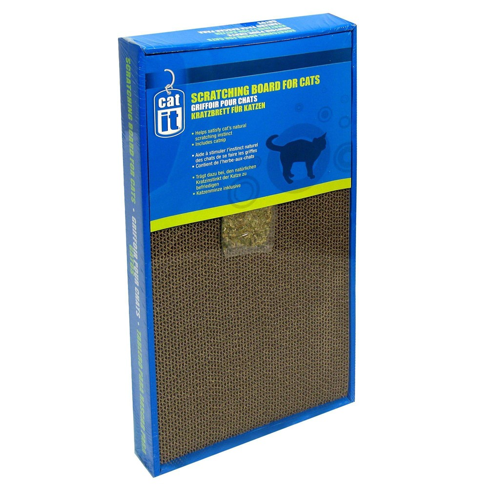 Catit Wide Scratching Board with Catnip for Cats Image