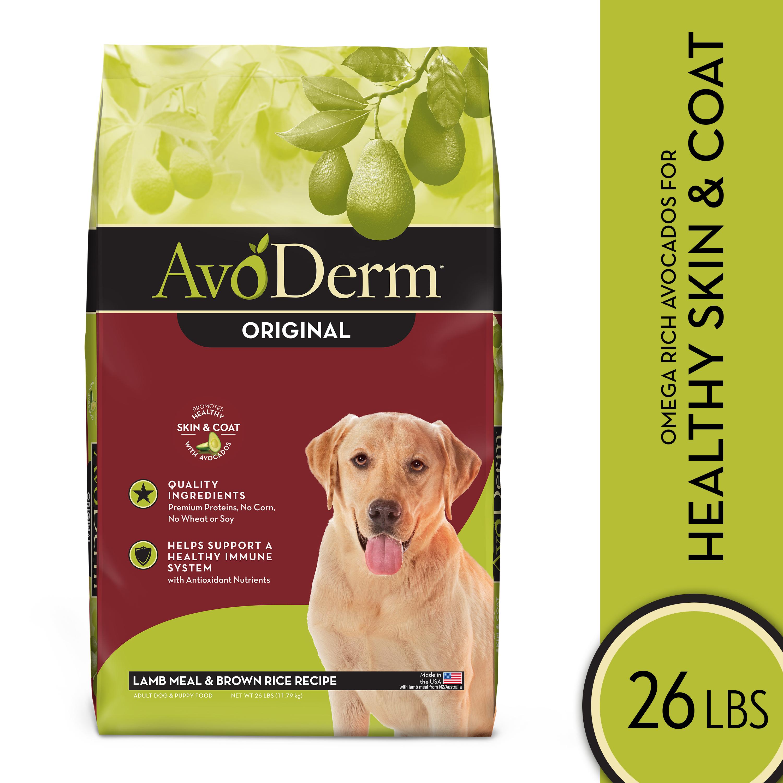 AvoDerm Natural Lamb Meal & Brown Rice Formula Adult Dry Dog Food, 26-lb bag