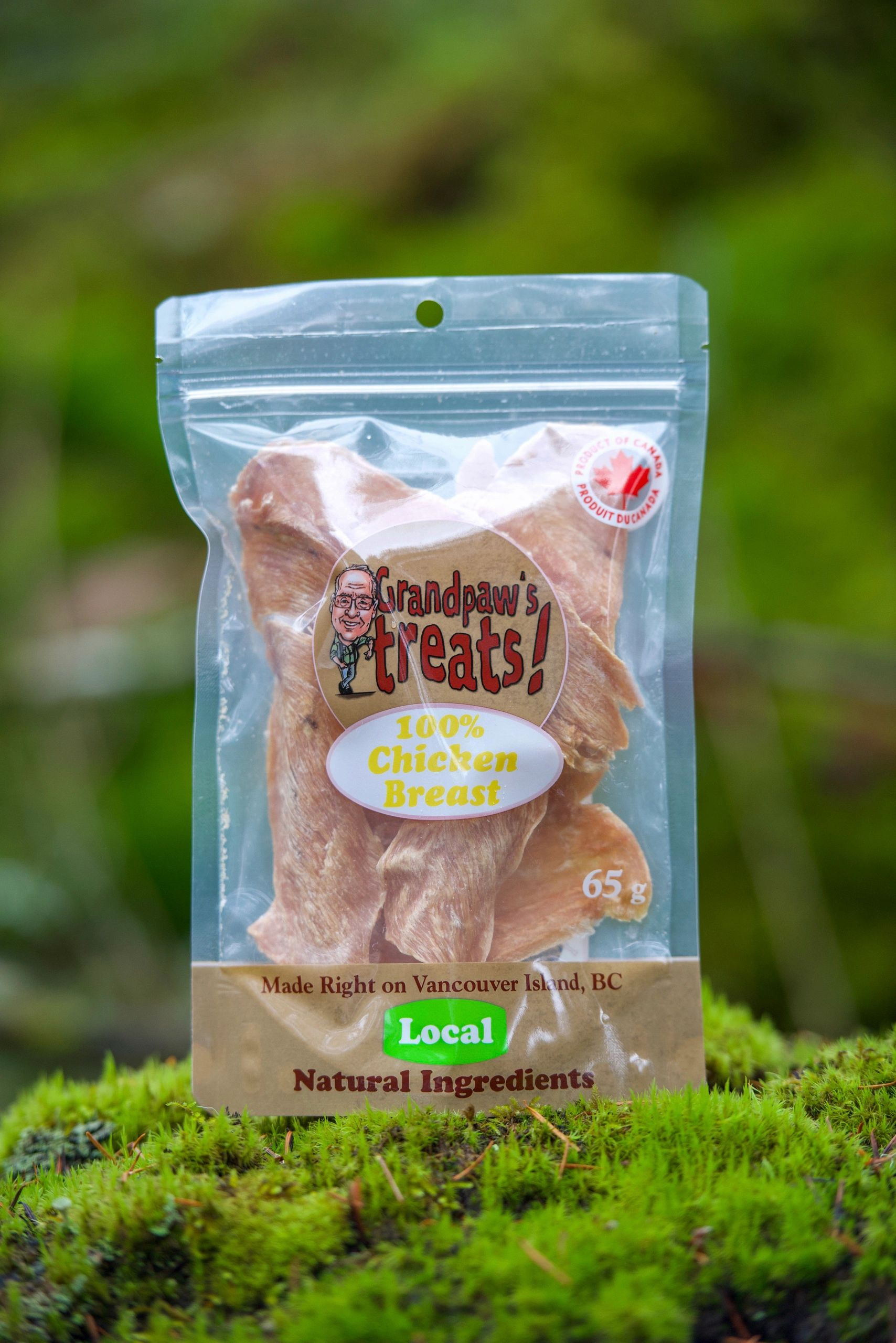 Grandpaw's Treats Chicken Breast, 65-gram