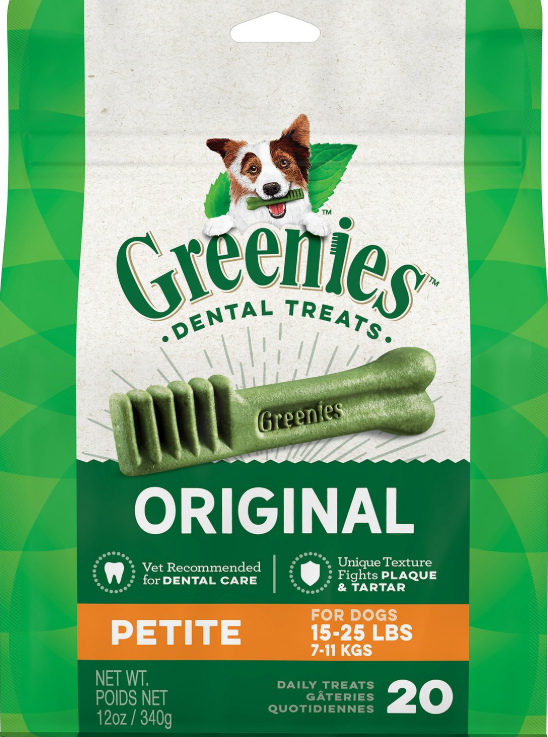 Greenies Original Petite Dental Dog Treats, 20-count