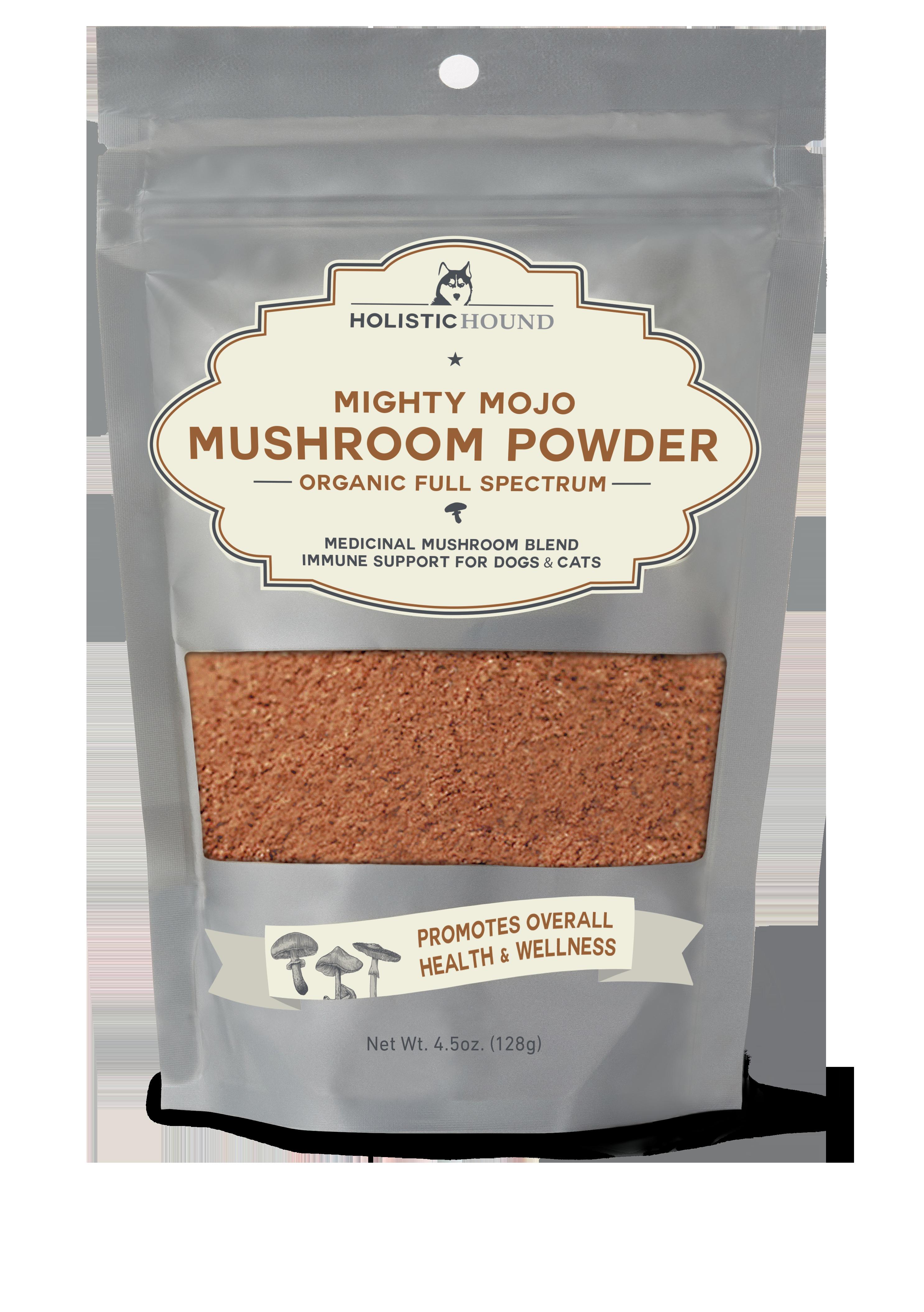 Holistic Hound Mushroom Powder for Pets, 4.5-oz