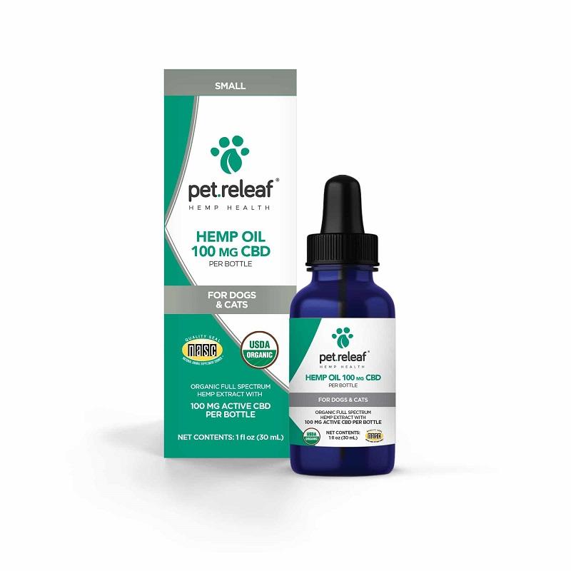 Pet Releaf Oil 100 Dog & Cat Supplement (Size: 100-mg) Image