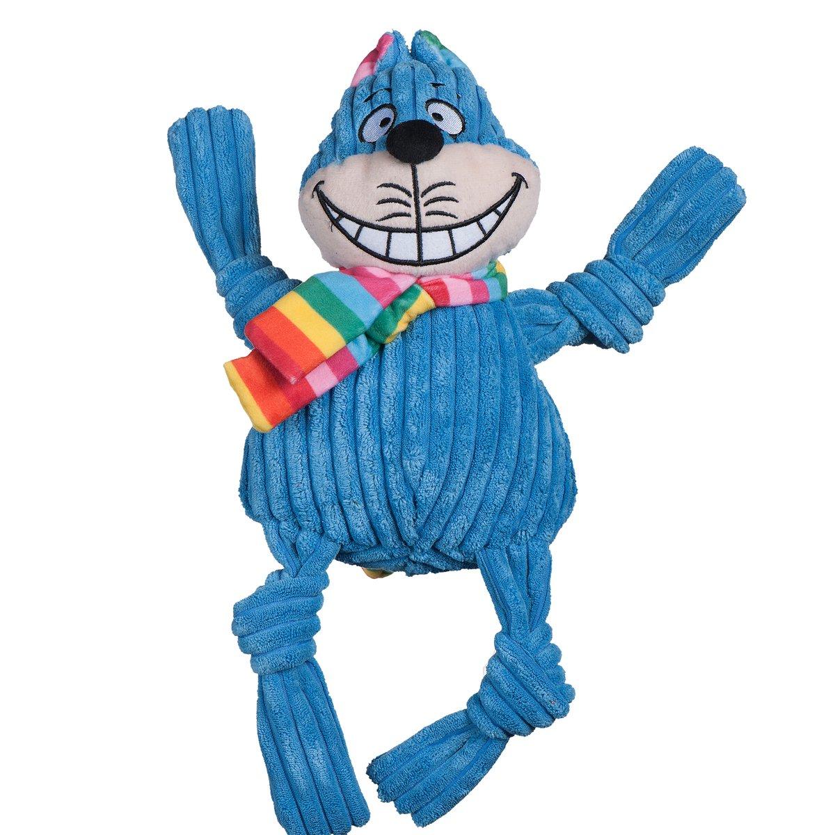 HuggleHounds Rainbow Cheshire Cat Knottie Dog Toy, Large