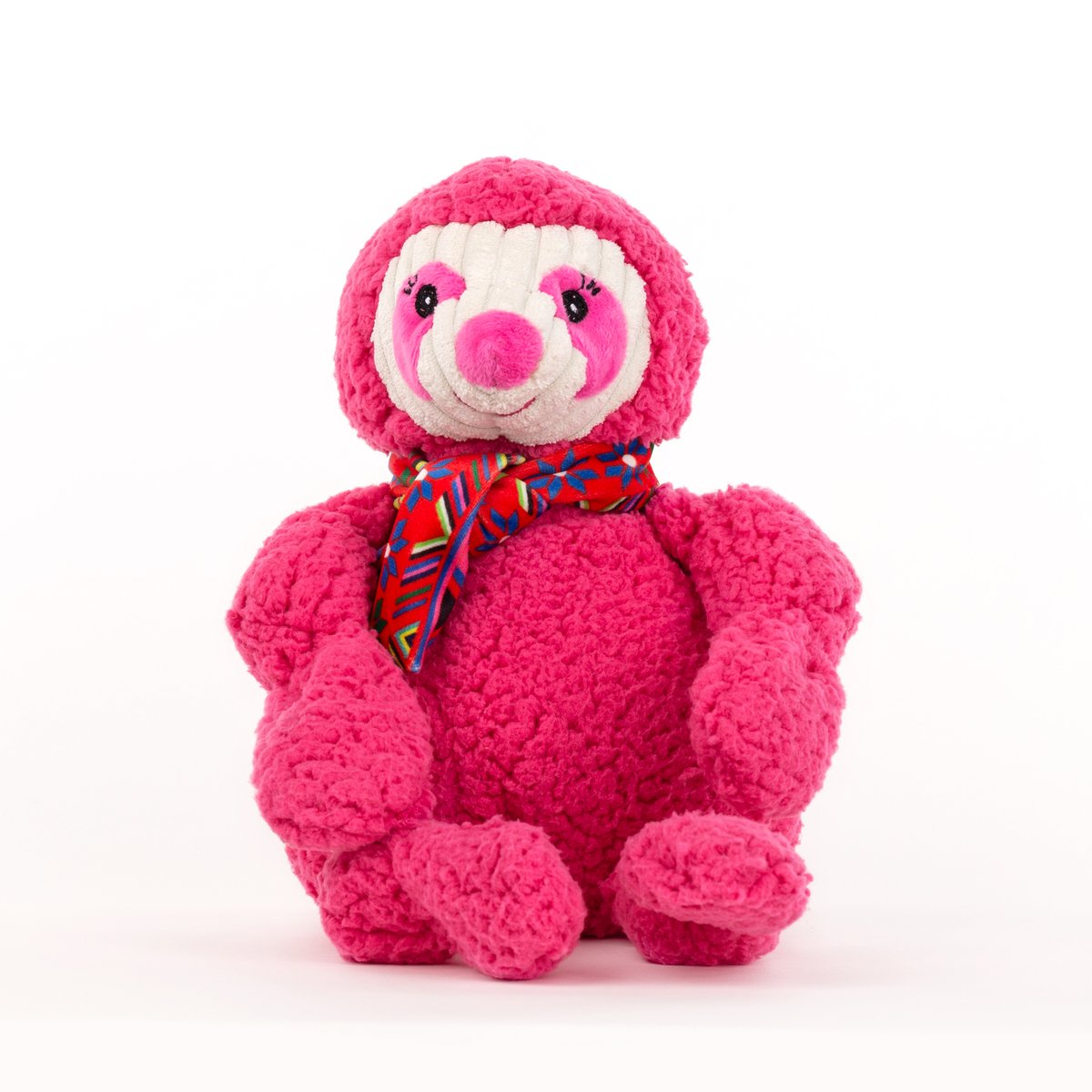 HuggleHounds Knottie Wild Things Sloth Dog Toy, Large