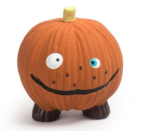 HuggleHound Pumpkin Ruff Tex Ball Dog Toy, Large