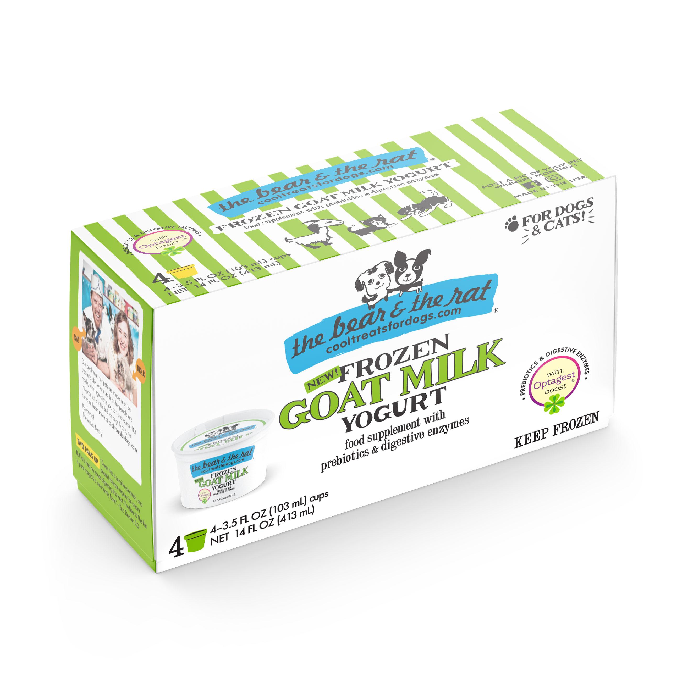 The Bear & The Rat Goat Milk Frozen Yogurt Dog & Cat Treats, 3.5-oz, 4-pack