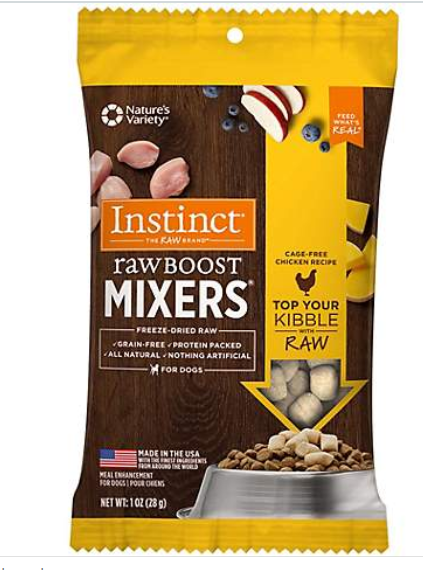 Instinct by Nature's Variety Raw Boost Mixers Chicken Recipe Freeze-Dried Dog Food Topper, 1-oz