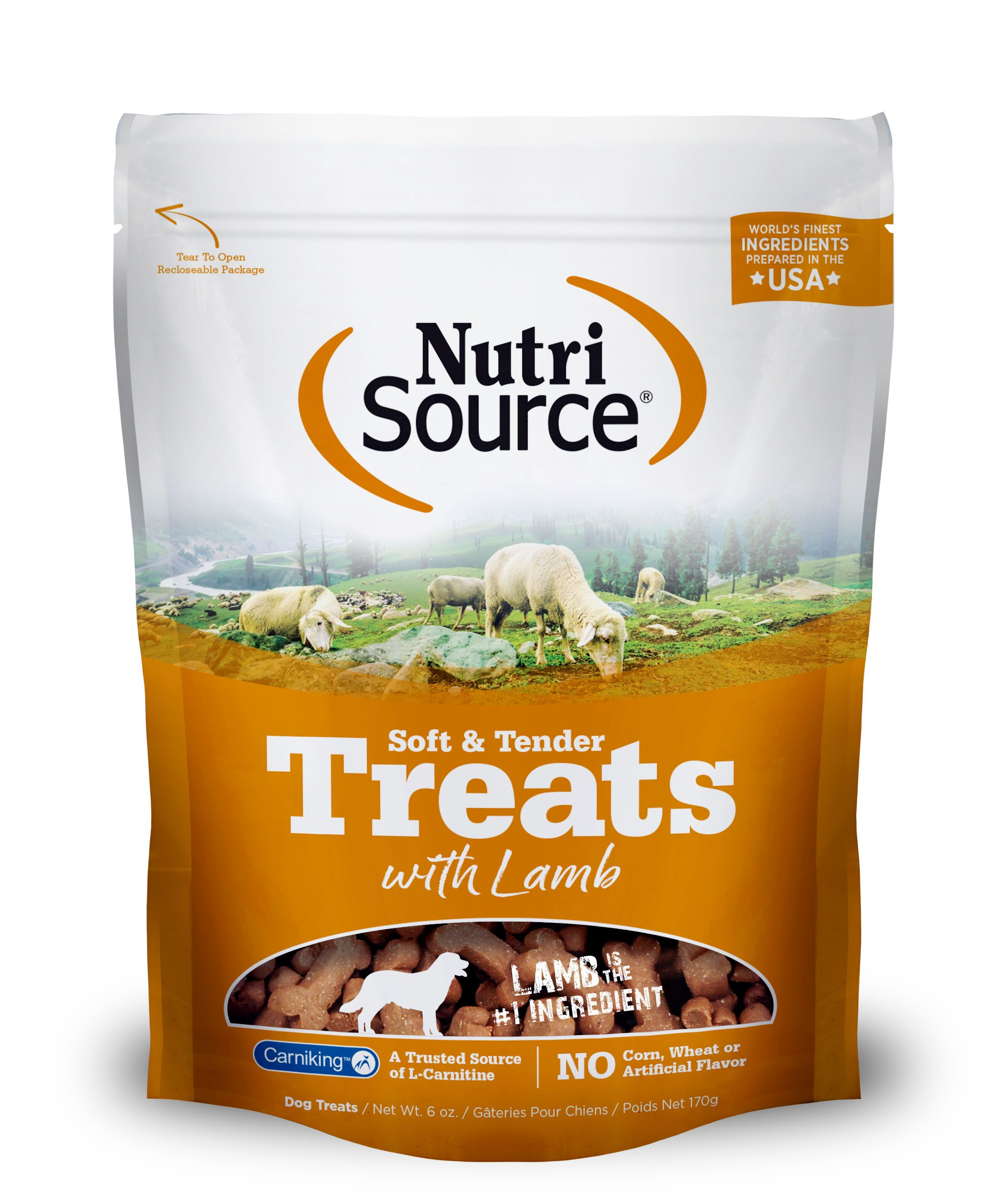 NutriSource Soft and Tender Lamb Dog Treats, 6-oz