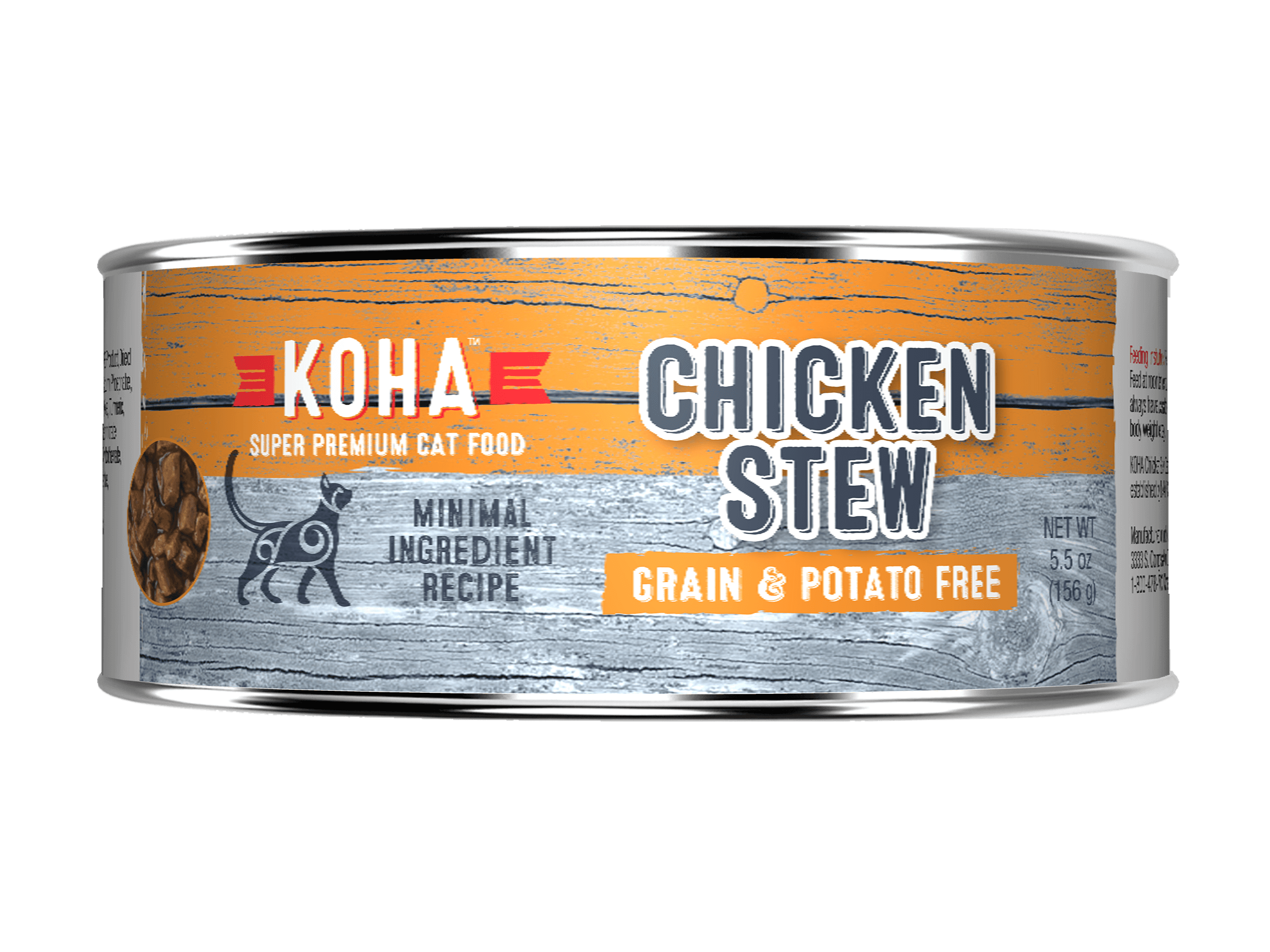 Koha Cat Minimal Ingredient Chicken Stew Wet Cat Food, 5.5-oz