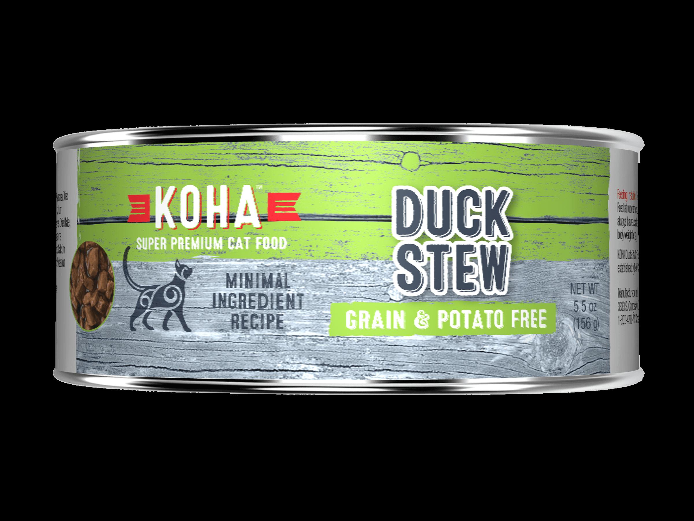 Koha Cat Minimal Ingredient Duck Stew Wet Cat Food, 5.5-oz (Size: 5.5-oz) Image