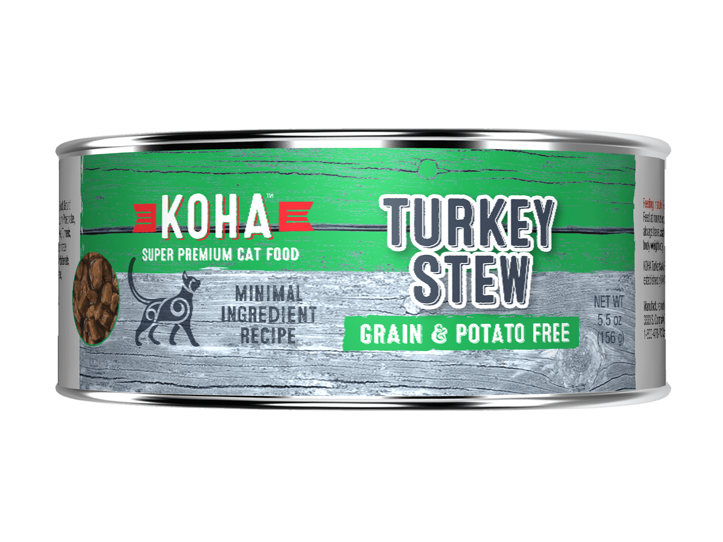 Koha Cat Minimal Ingredient Turkey Stew Wet Cat Food, 5.5-oz