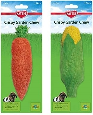 Kaytee Crispy Garden Chew Small Animal Toy, Jumbo, Assorted