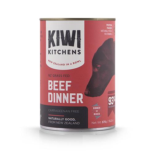 Kiwi Kitchens Beef Dinner Wet Dog Food, 13.2-oz