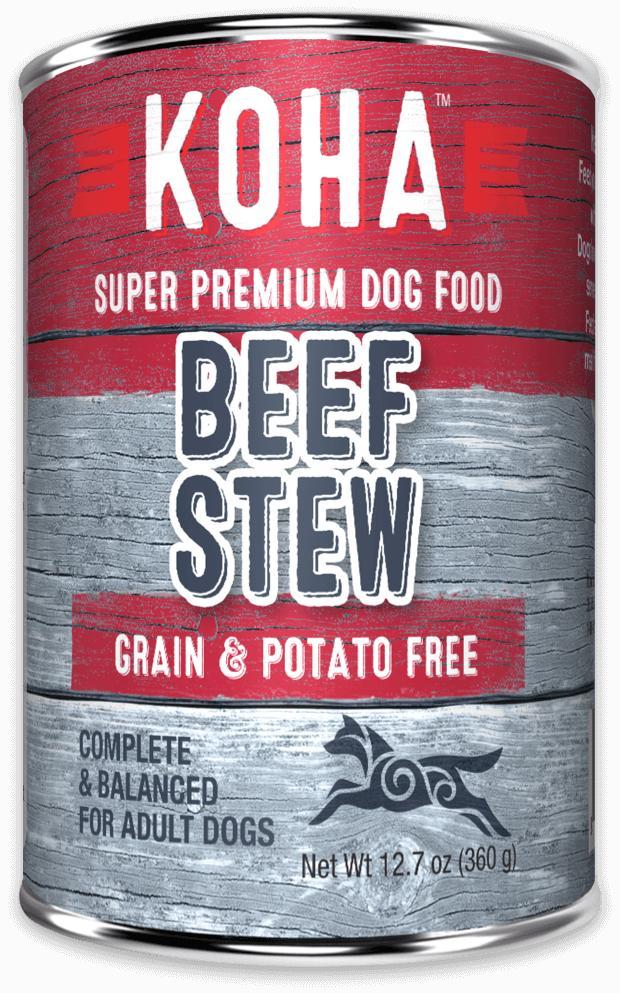 Koha Minimal Ingredient Beef Stew Wet Dog Food, 12.7-oz can
