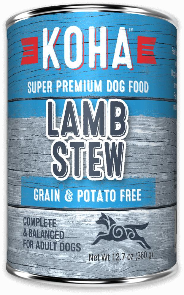 Koha Minimal Ingredient Lamb Stew Wet Dog Food, 12.7-oz can