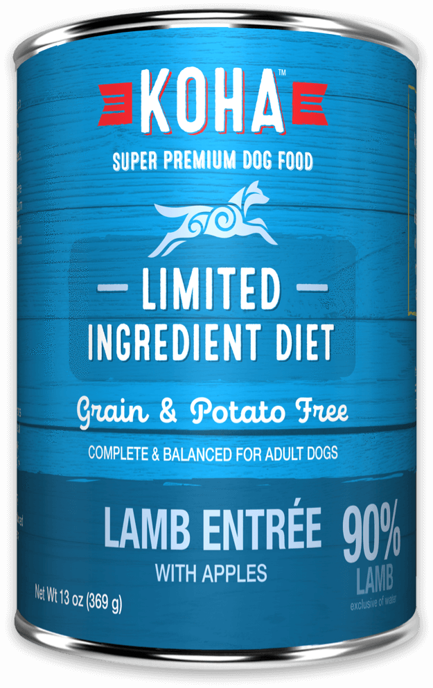 Koha Limited Ingredient Diet Lamb Entrée with Apples Wet Dog Food, 13-oz