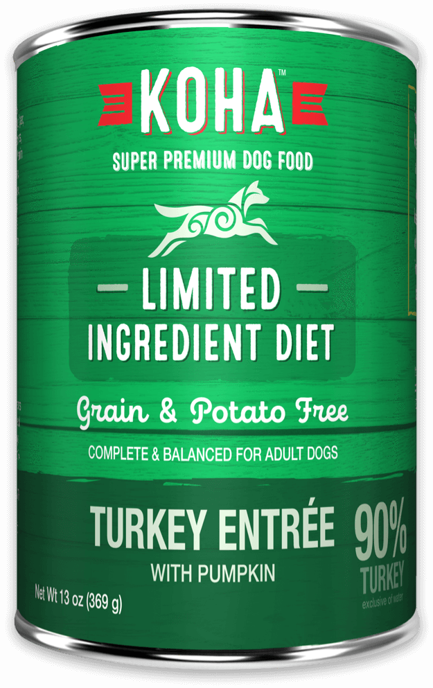 Koha Limited Ingredient Diet Turkey Entrée with Pumpkin Wet Dog Food, 13-oz