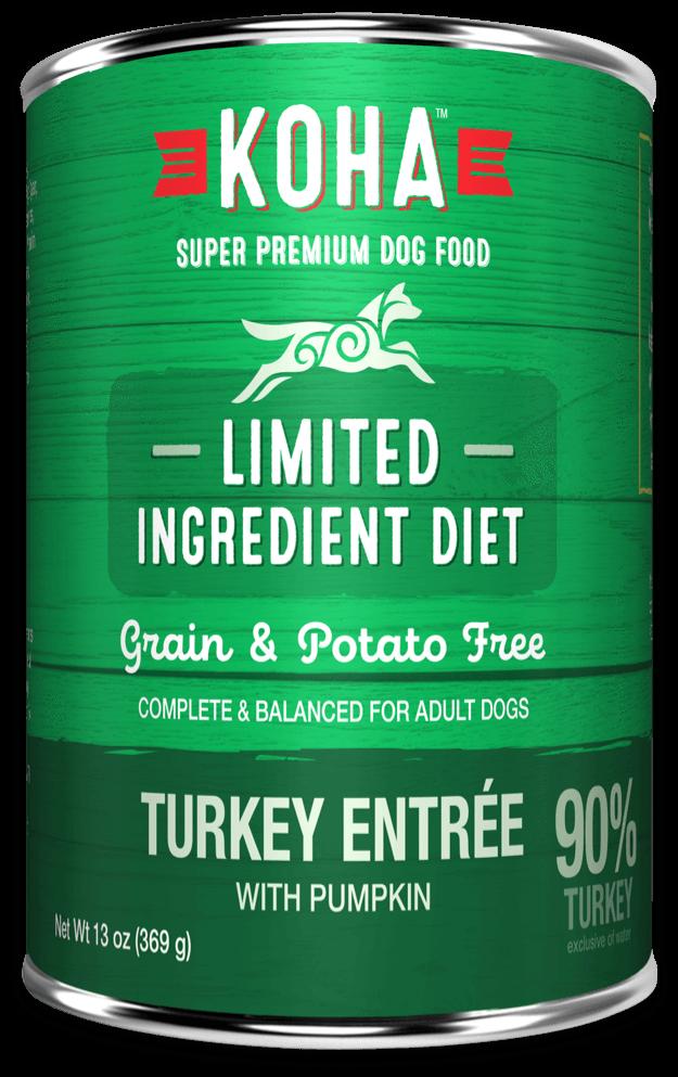 Koha Limited Ingredient Diet Turkey Entrée with Pumpkin Wet Dog Food, 13-oz