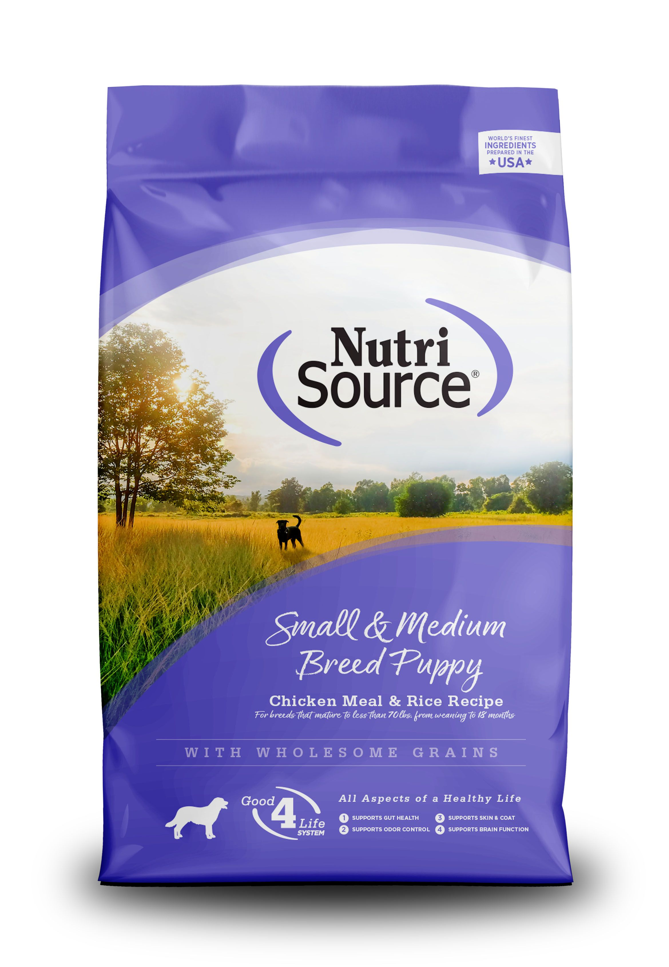 NutriSource Small and Medium Breed Puppy Chicken and Rice Dry Dog Food Image