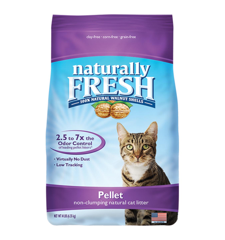 Naturally Fresh Walnut-Based Pellet Non-Clumping Cat Litter, 14-lb bag