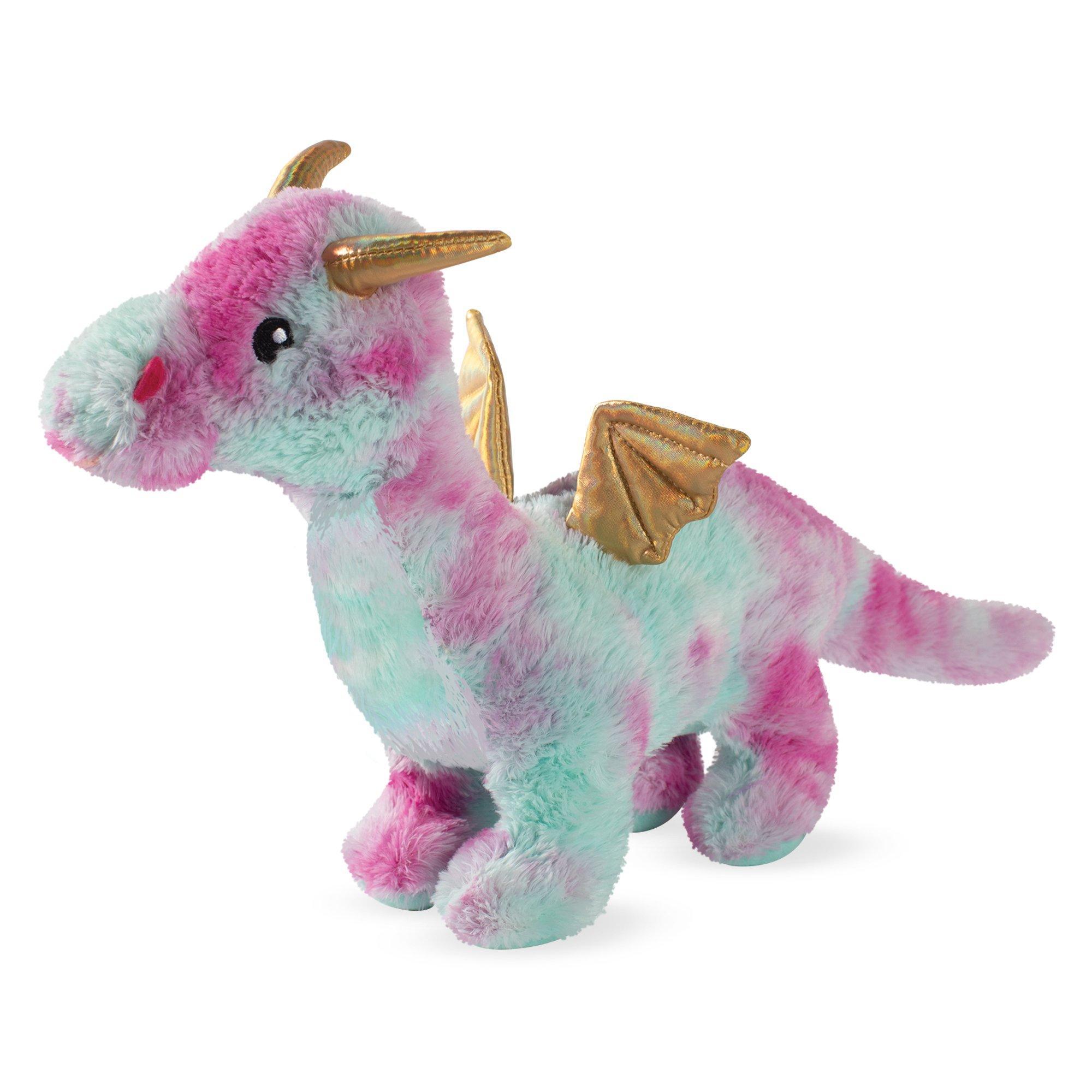 Pet Shop by Fringe Studio Magenta Dragon Plush Squeaker Dog Toy