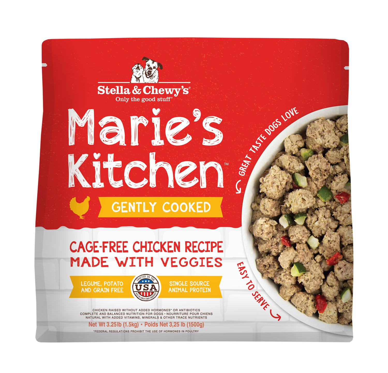 Stella & Chewy's Marie's Kitchen Cage-Free Chicken Recipe Frozen Dog Food, 3.25-lb
