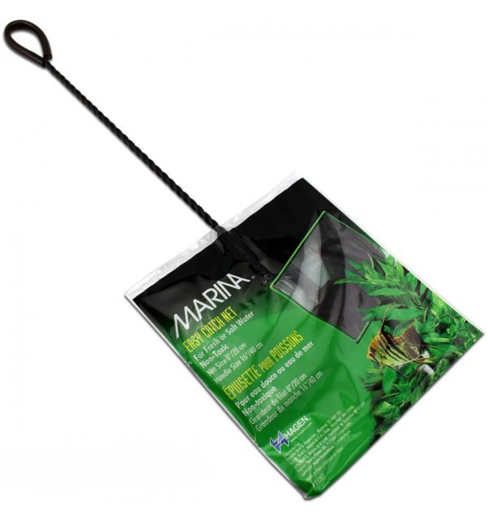 Marina Easy Catch Net for Aquariums, 5-in, 16-in shaft