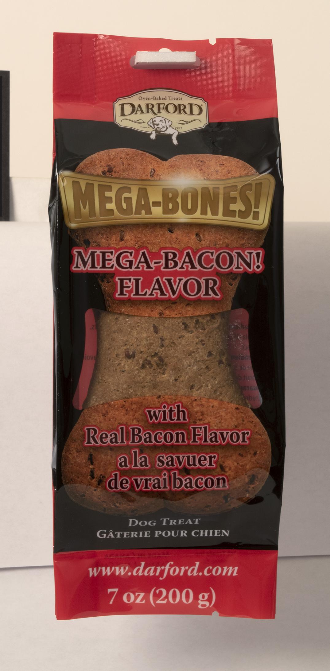 Darford Mega Bacon Flavor Bone Dog Treat, 7-oz