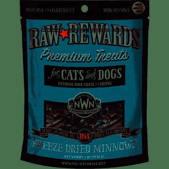 Northwest Naturals Raw Rewards Minnows Freeze Dried Dog & Cats Treats, 1-oz